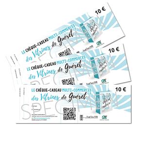 chèques cadeaux multi-commerces des vitrines de Guéret