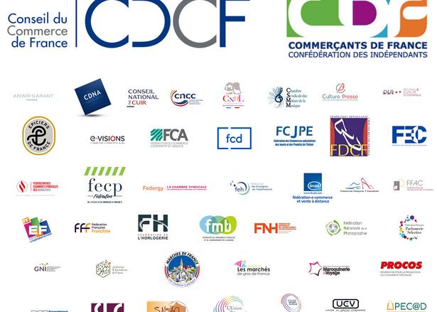 logos fédérations du commerce